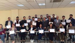 Distribution of certificates to participants in the workshop of the Department of Law / Faculty of Law and Politics