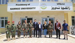 NZU hosts a delegation of Peshmarga command- Duhok